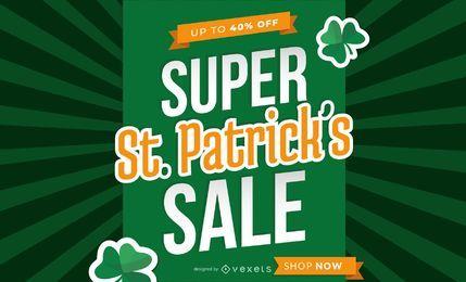 Diseño de venta de Super Saint Patrick