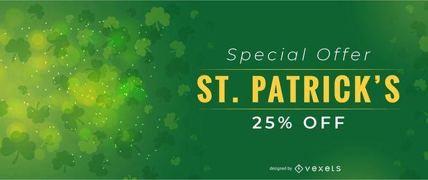 Diseño de oferta especial de San Patricio