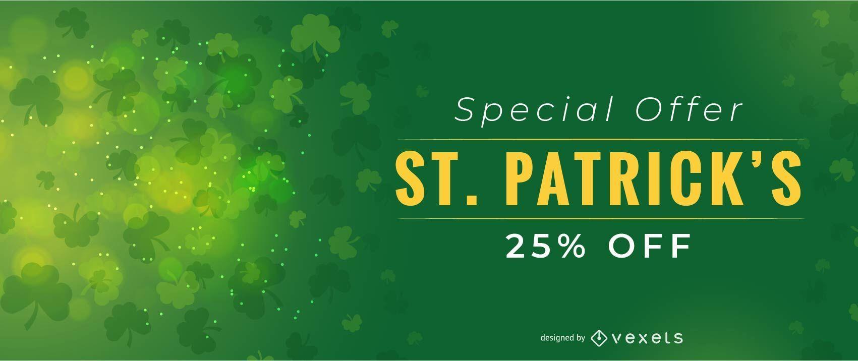 Saint Patrick's Special Offer Design