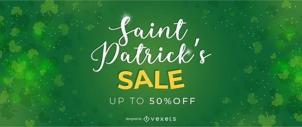 Saint Patrick's Verkauf Anzeigen Design