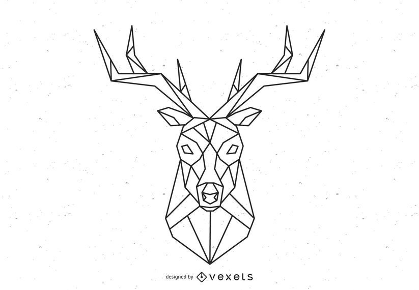 Polygonal Deer Vector