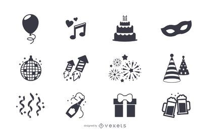 Party-Elemente-Icon-Set