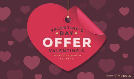 Verkaufstag-Entwurf des Valentinstags