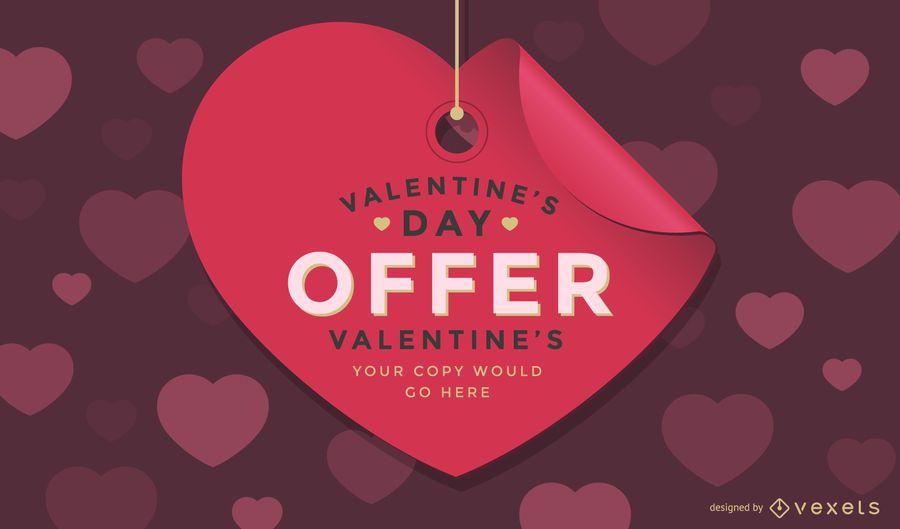 Valentine's Day Sale Tag Design