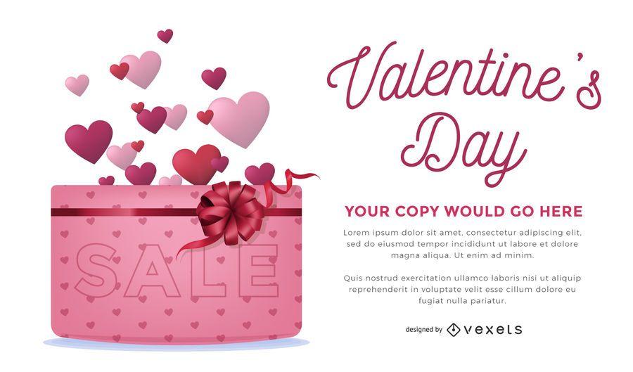 Valentinstag-Verkauf Design