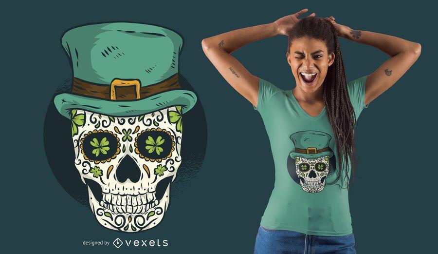 Design do t-shirt do crânio de St Patrick
