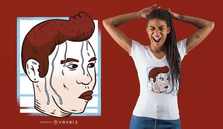 Diseño de camiseta Nervous Meme