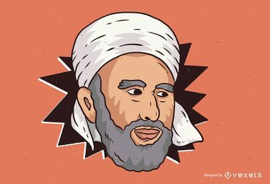 Middle Eastern Man Illustration