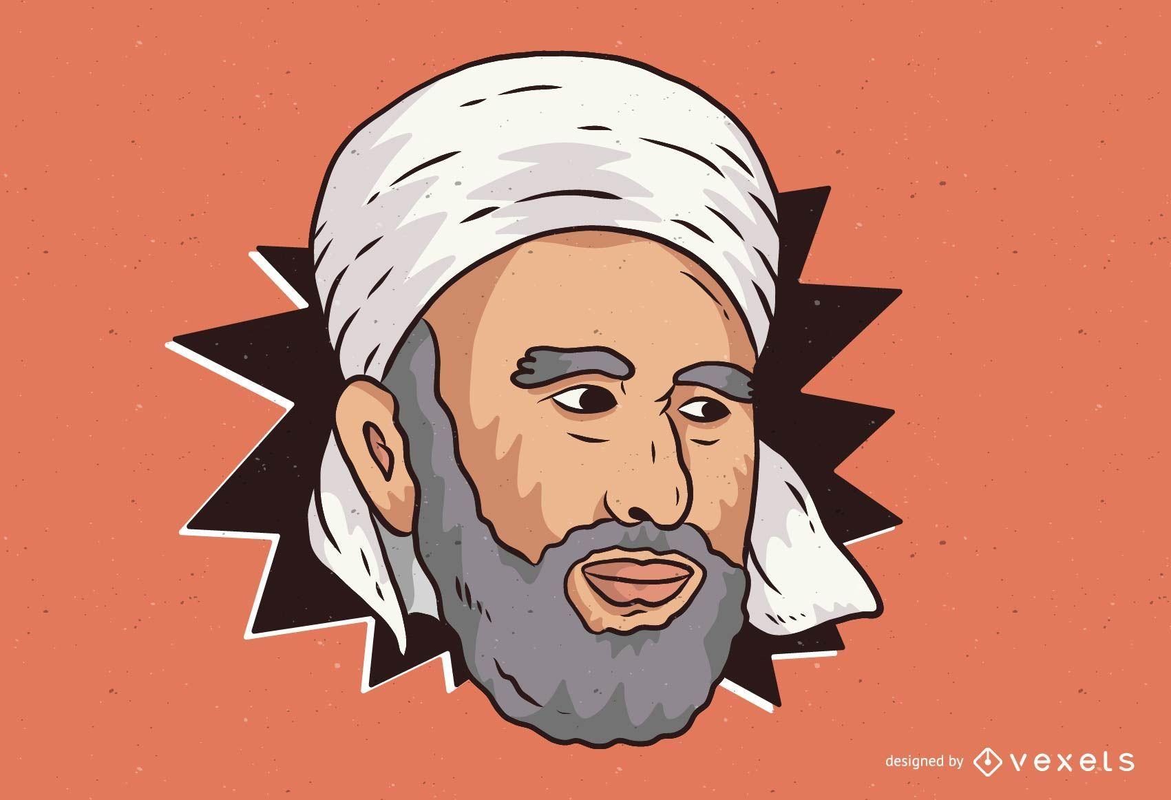 Ilustración del hombre del Medio Oriente
