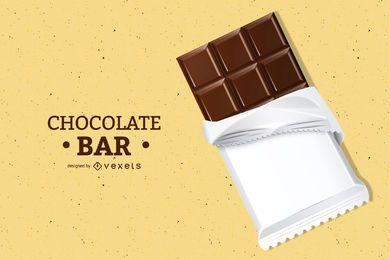 Ilustração 3D barra de chocolate