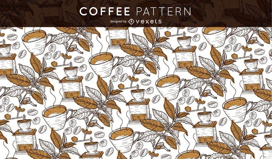 Patrón de café sin costuras