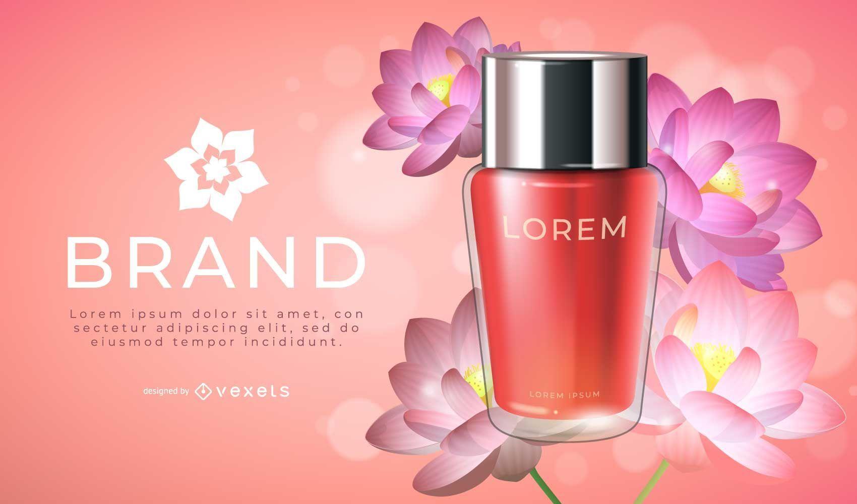 Diseño de publicidad de productos Lotus