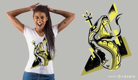 Projeto do t-shirt da cidade da serpente