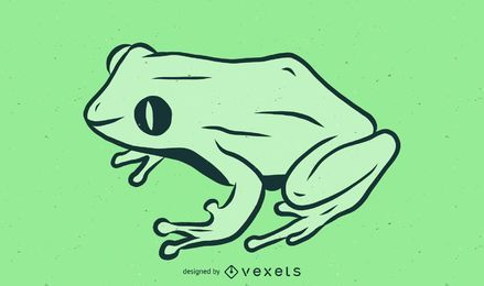Coqui Frog Illustration