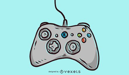 Joystick sketchy illustration