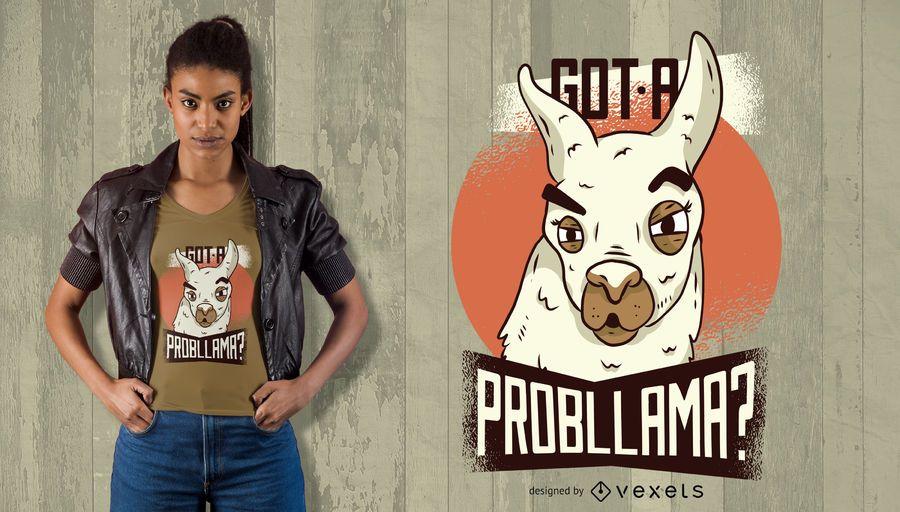 Obteve um design do t-shirt de Probllama