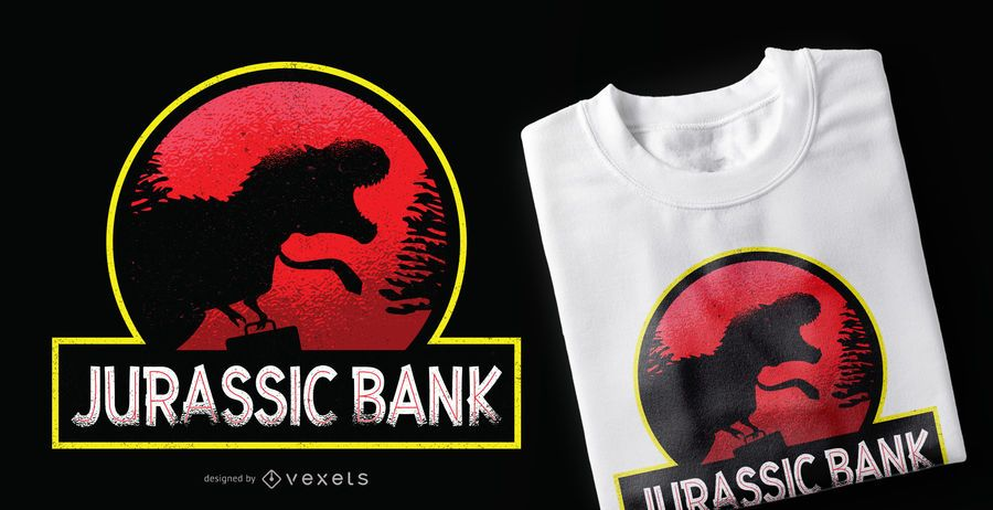 Jurassic Bank T-Shirt Design