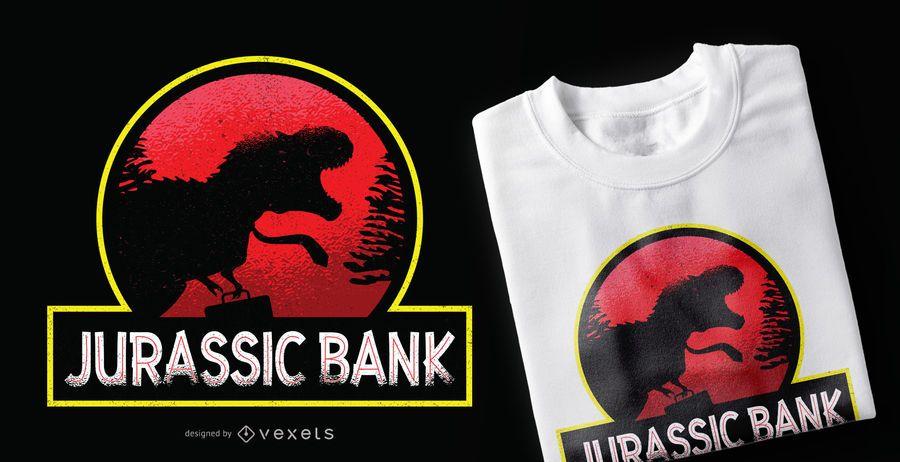 Projeto do t-shirt do banco jurássico