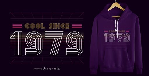 Retro Cool 1979 T-Shirt Design