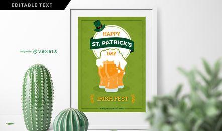 Irisches Festplakat zum St. Patrick's Day