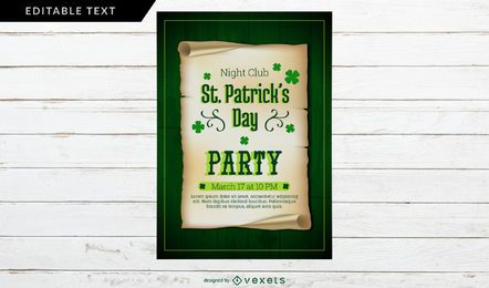 St. Patrick's Day Party Poster Design