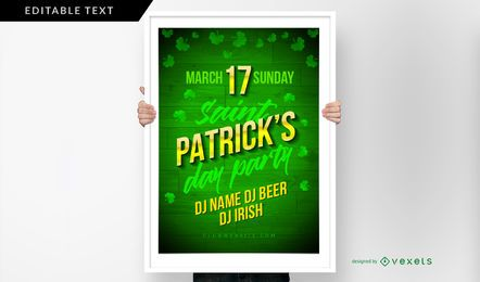 St. Patrick's Day Party Poster Vorlage