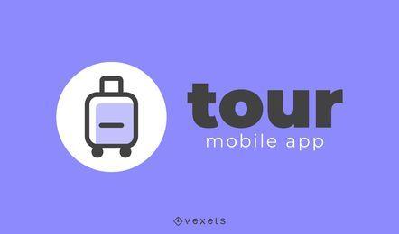 Diseño de logotipo de la aplicación de viaje