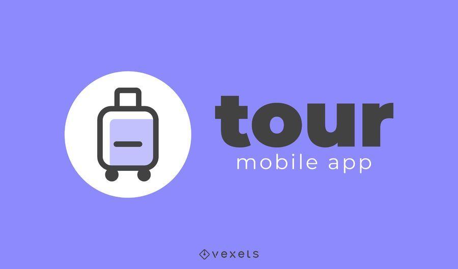 Design de logotipo de app de viagens de turismo