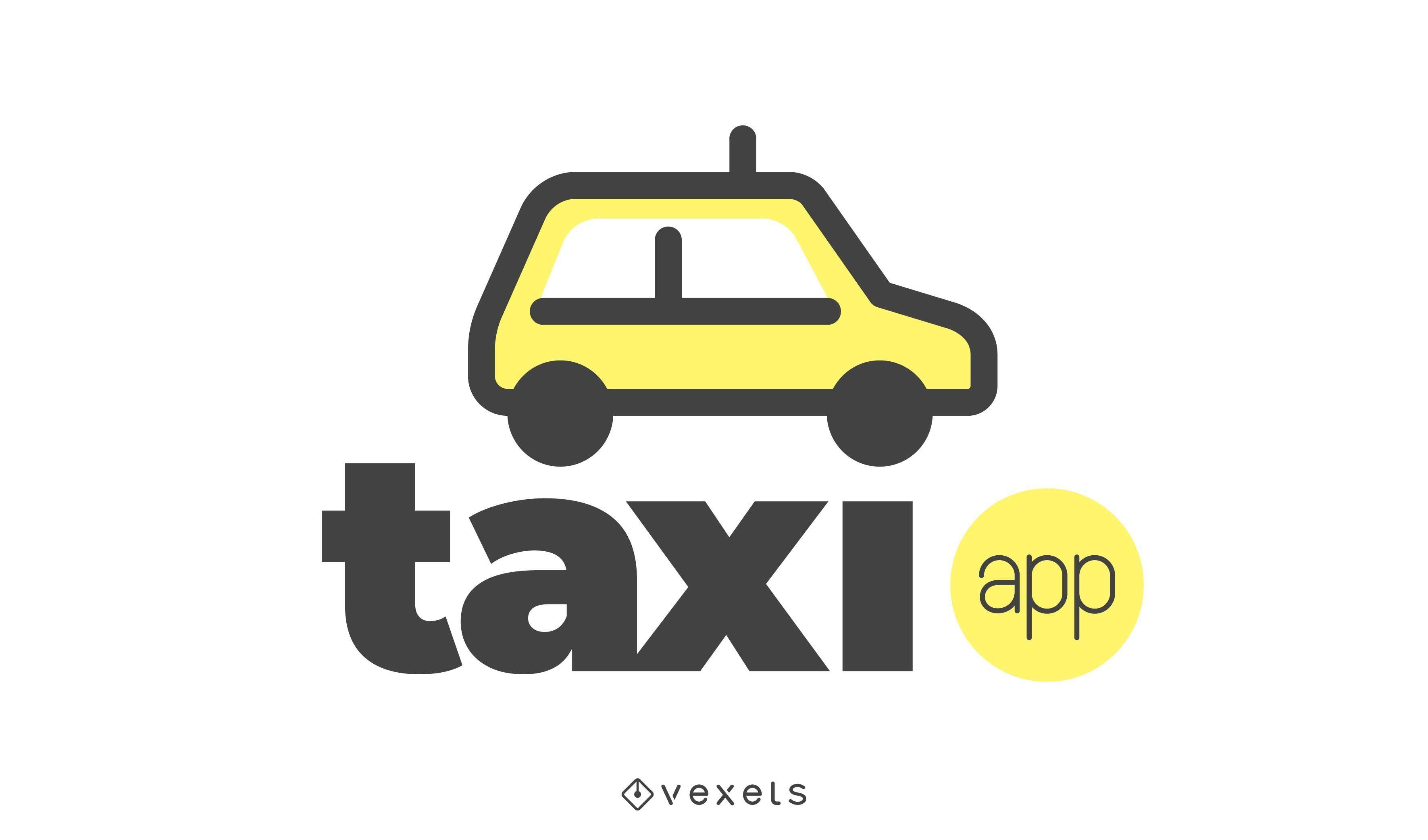 Design do logotipo do aplicativo de táxi