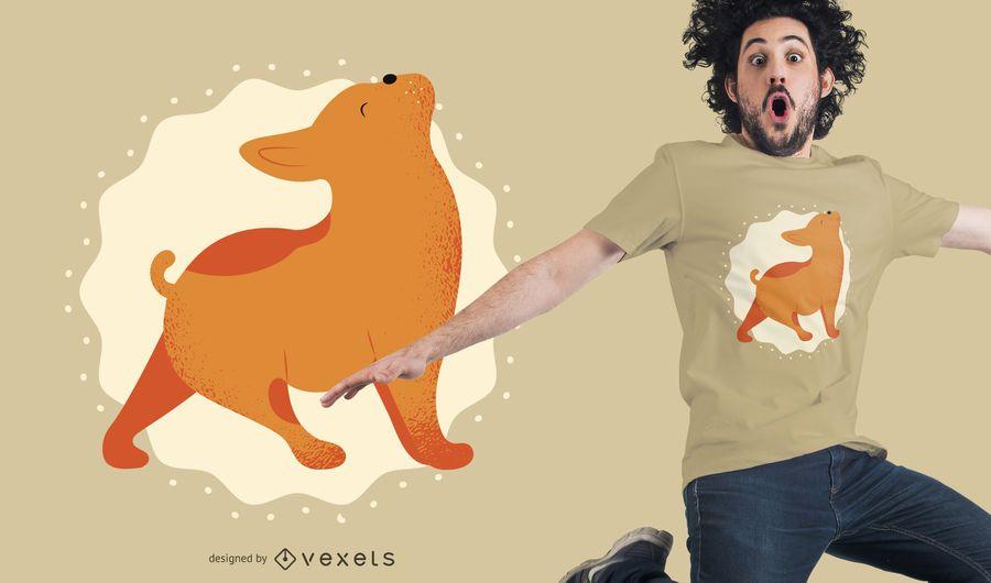 Diseño de camiseta perro mascota yoga