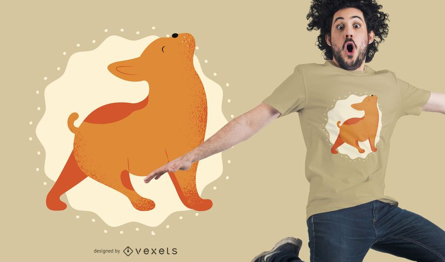 Hund Haustier Yoga T-Shirt Design