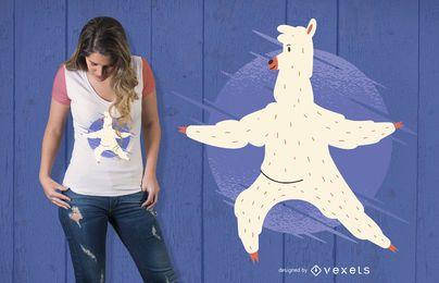 Llama Yoga T-Shirt Design
