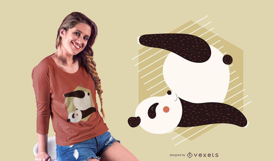 Diseño de camiseta con pose de yoga Panda