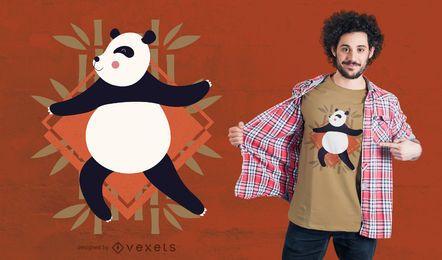 Panda que faz o projeto do t-shirt da ioga