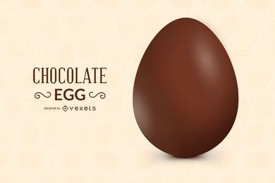 Desenho de ovo de chocolate 3D