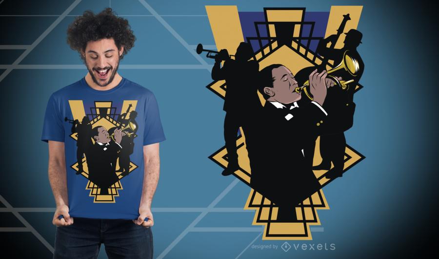 Jazz Band T-Shirt Design