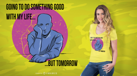 Projeto do t-shirt da procrastinação