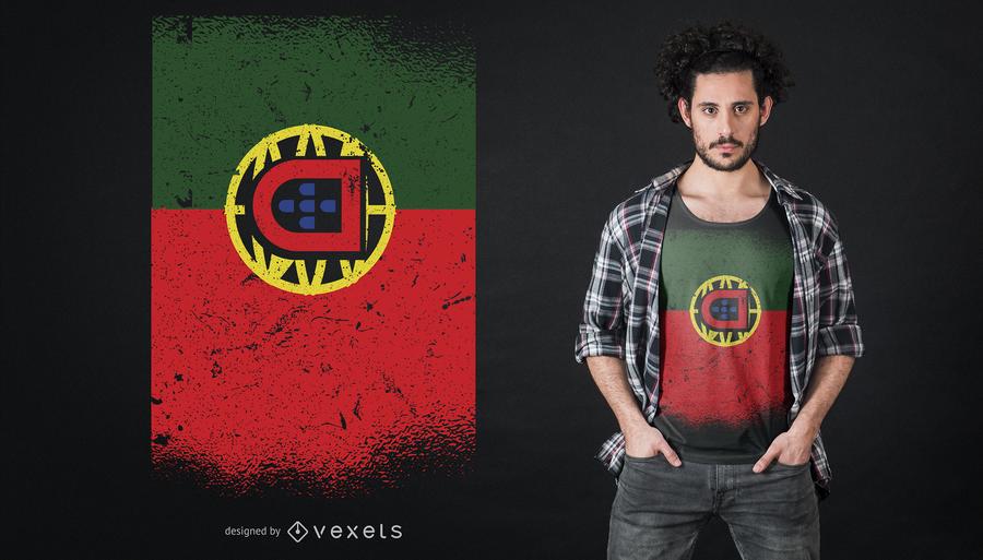 Diseño de camiseta grunge portugal