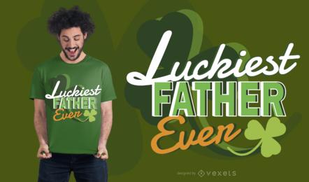 Diseño de camiseta de padre afortunado