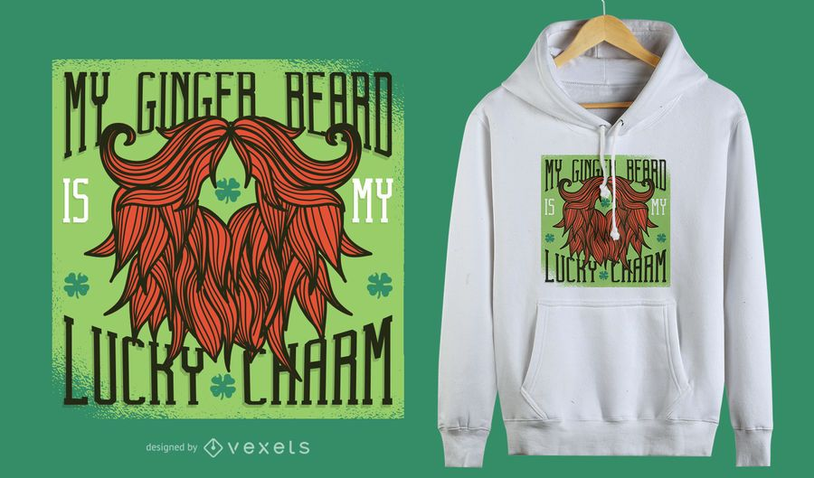 Ginger Beard T-Shirt Design