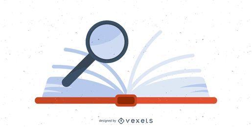 Design de ícone de livro aberto