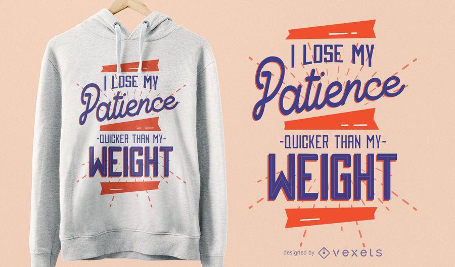 Lost Patience T-Shirt Design