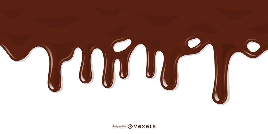 Ilustração de chocolate derretido realista
