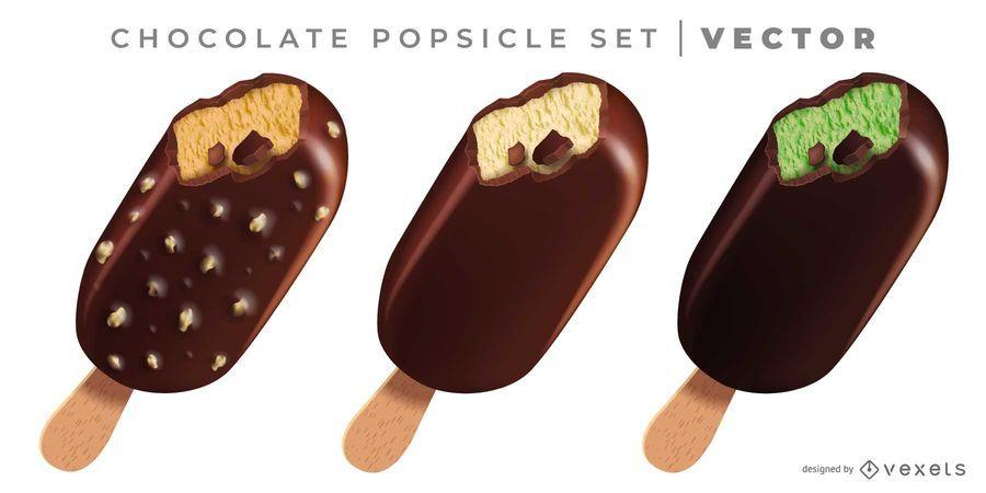 3D Chocolate Popsicle Set