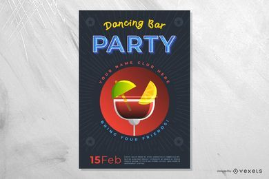 Tanzen-Bar-Party-Poster