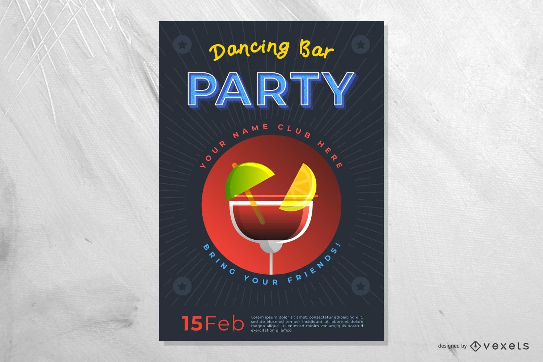 Dancing Bar Party Poster
