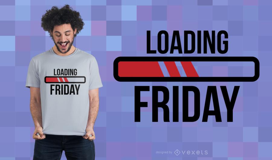 Carregando o projeto do t-shirt de sexta-feira