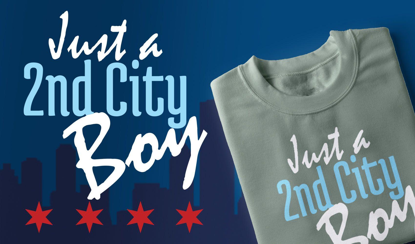 Design de camiseta masculina da segunda cidade