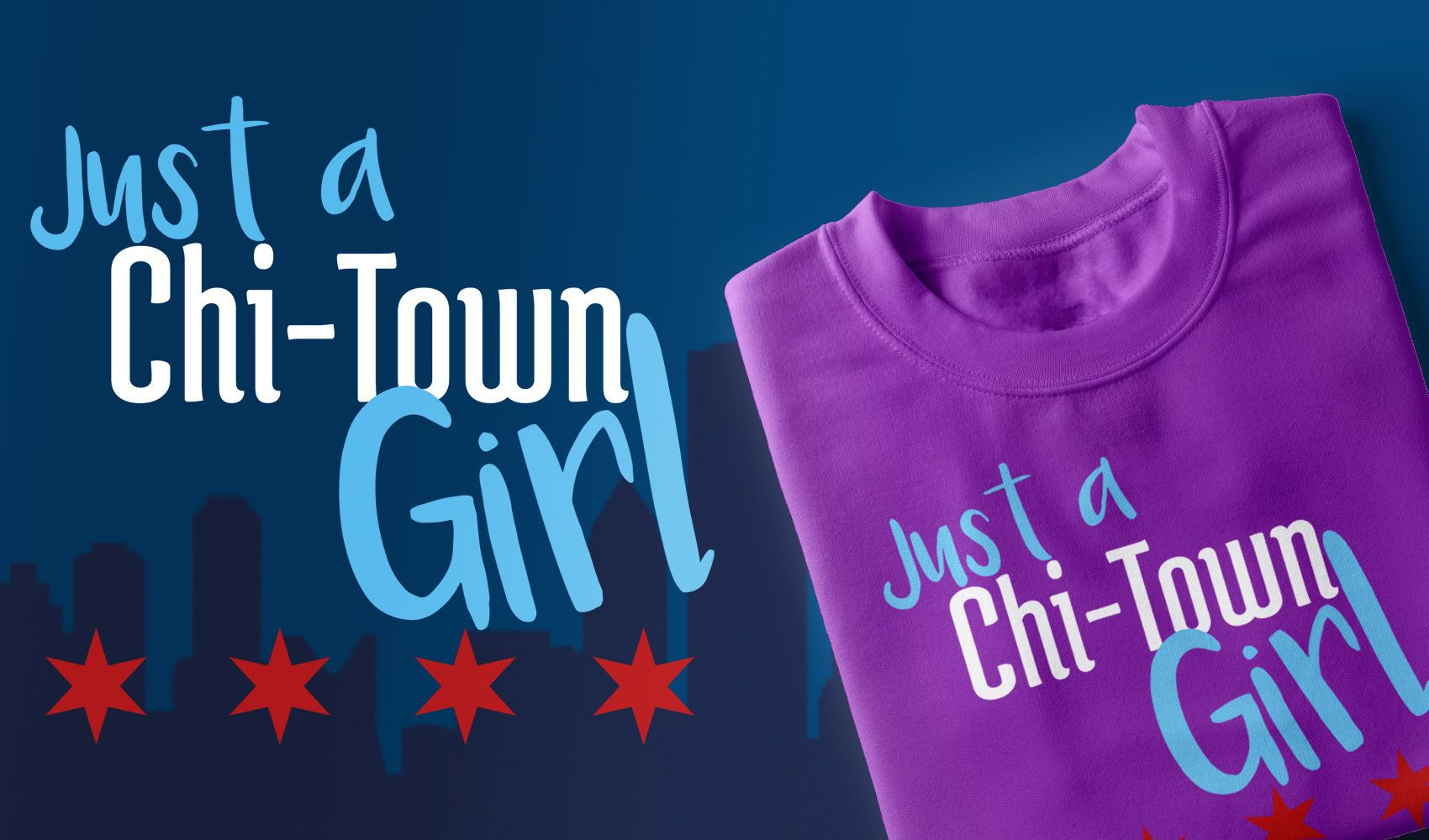 Design de t-shirt Chi-Town Girl