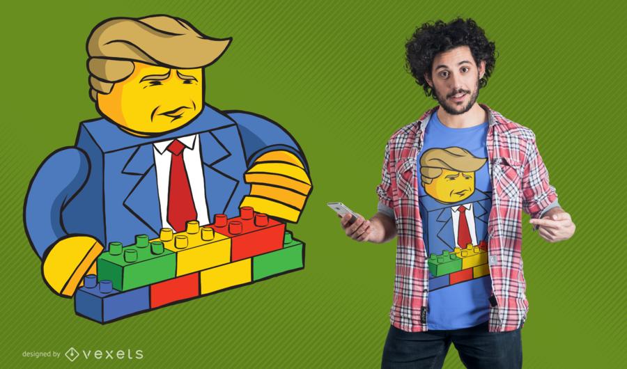 Diseño de la camiseta Lego Trump Builder